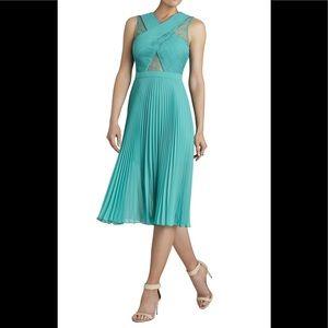 """BCBGMaxAzira NWT """"Abbie"""" Sleeveless Pleated Dress"""